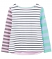 Harbour 3/4 Sleeve Top Light Blue Stripe