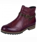 Cristallin Brogue Ankle Boot Wine
