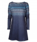 Angela Fairisle Tunic Navy Teal