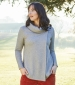 Bea Wrap Jumper Grey