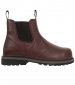Zeus Safety Dealer Boot Full Grain Brown