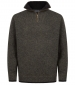 1/4 Zip Lambswool Sweater Green Marl