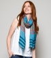 Twin Stripe Scarf Sea