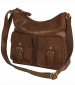 Zip Top Bag with Buckle Pockets Tan