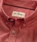 Ayr Cotton/Linen Short Sleeved Shirt Red