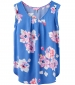 Alyse Printed Capped Sleeve Top Blue floral