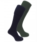 Luxury Knee Length Stocking Navy/ Olive Twinpack