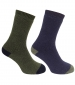 Country Short Sock Twinpack Navy/ Green