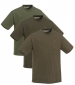 Triple Pack T-Shirt Green, Brown, Khaki
