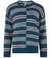 Niko Stripe Jumper Deep Sea Blue