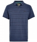 Baskin Jacquard Polo Dark Navy