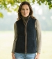 Sally Fleece Gilet Burgundy