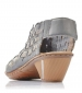 Woven Design Heeled Sandal Azure