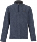 Newark 1/4 Zip Grid Fleece Washed Black