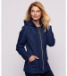 Quilted Panel Jacket Navy