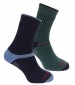 Hoggs Tech-Active Sock Navy/ Bottle Twinpack