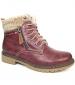 Benson Collar Boot Burgundy