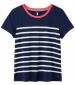 Carley Stripe T-Shirt French Navy