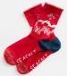 Festive Feet Socks Warm Heart Dahlia