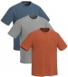 Triple Pack T-Shirt Blue, Grey, Mustard