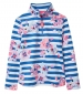 Fairdale Print Zip Neck Top Blue Stripe Floral