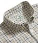 Short Sleeve Checked Shirt Navy/Tan/ Green Tattersall