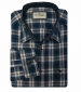 Long Sleeve Checked Shirt Navy/Cream Check