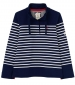 Saunton Sweatshirt Navy/ Cream Stripe