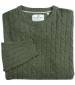 Jedburgh Cable Pullover Thyme