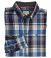 Luthrie Plaid Shirt Blue/ White Check