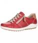Side Zip Casual Shoe Rosso