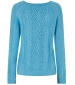 Sara Cable Knit Cardigan Scandi Blue
