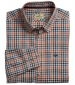 Dundas Cotton Shirt Orange/Blue Check