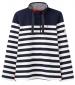 Saunton Sweatshirt Grey/ Cream Stripe