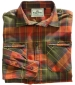 Countrysport Flannel Shirt Olive/ Paprika