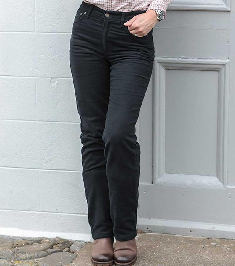 Straight Leg Moleskin Jeans
