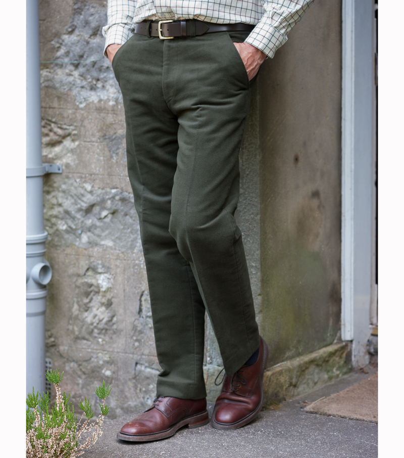 Hoggs Moleskin Trousers in dark olive