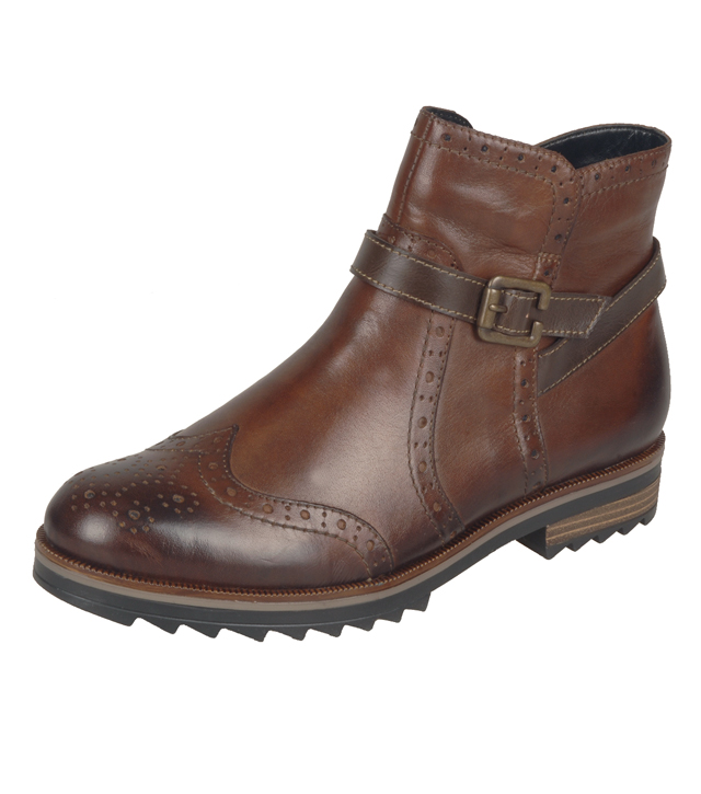 Cristallin Brogue Ankle Boot by Remonte