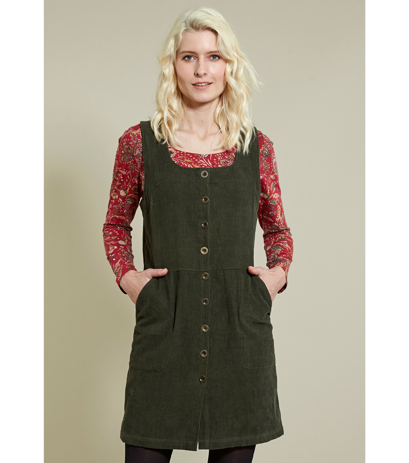 Button Front Pinafore