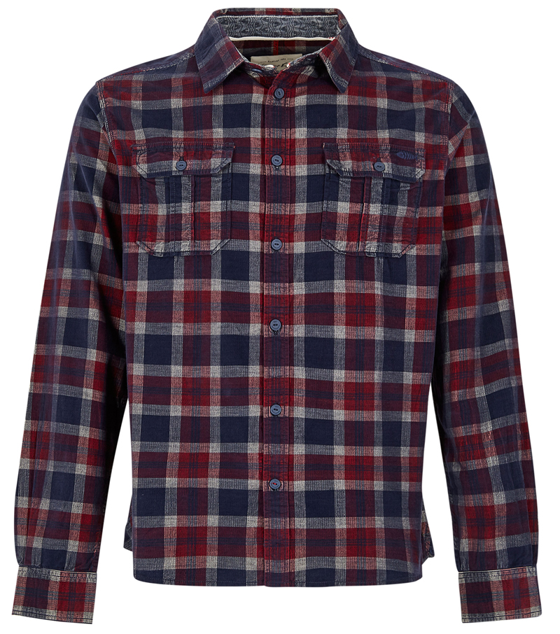 Avary Washed Cord Check Shirt
