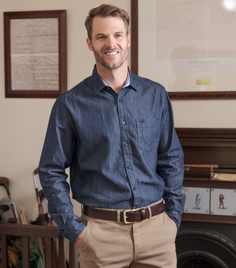 Long Sleeve Denim Shirt Casual Shirts For Men From Fife Country