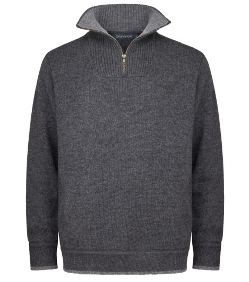 1/4 Zip Lambswool Sweater