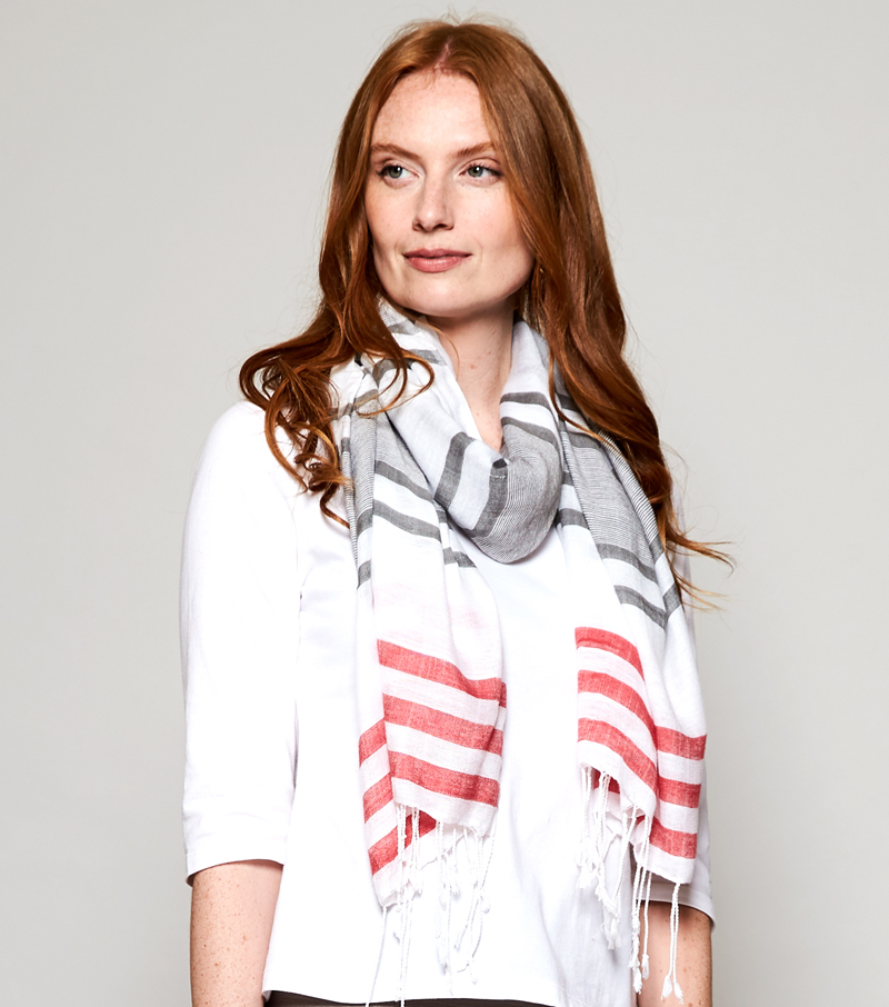 Twin Stripe Scarf