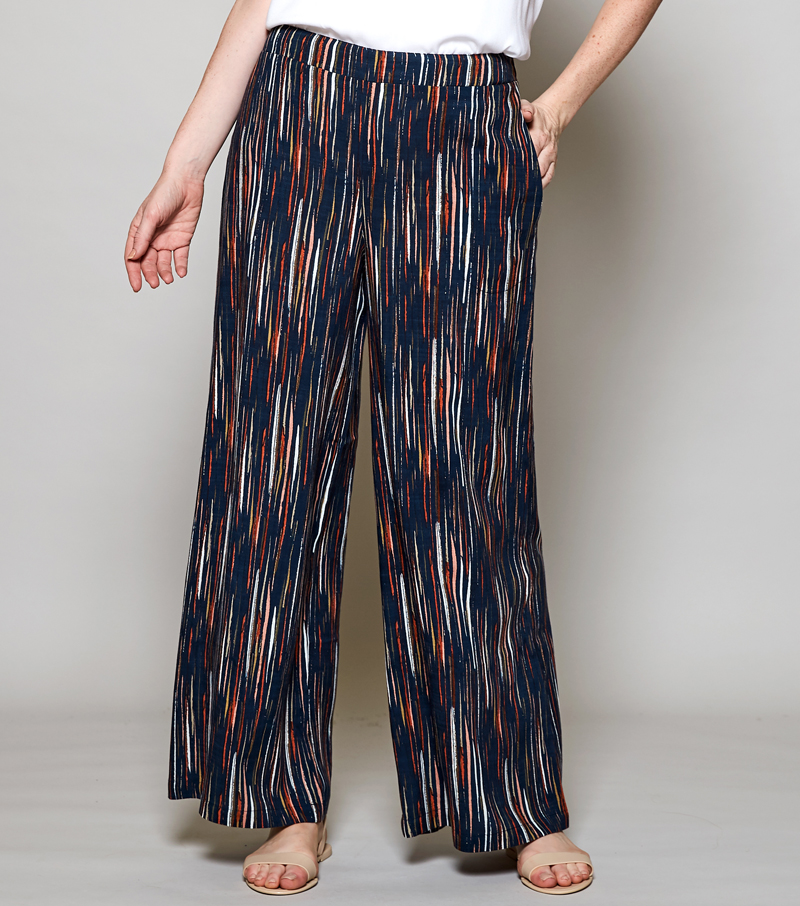 Stripe Wide Leg Trousers