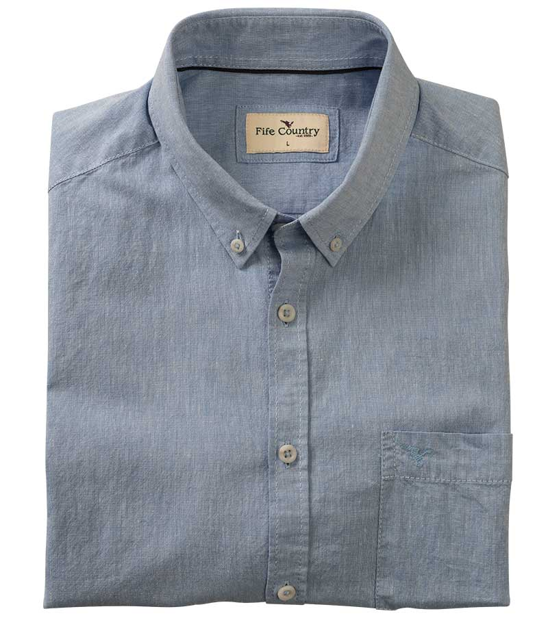 784b0e7be Ayr Cotton/Linen Short Sleeved Shirt | Casual Shirts for Men from Fife  Country