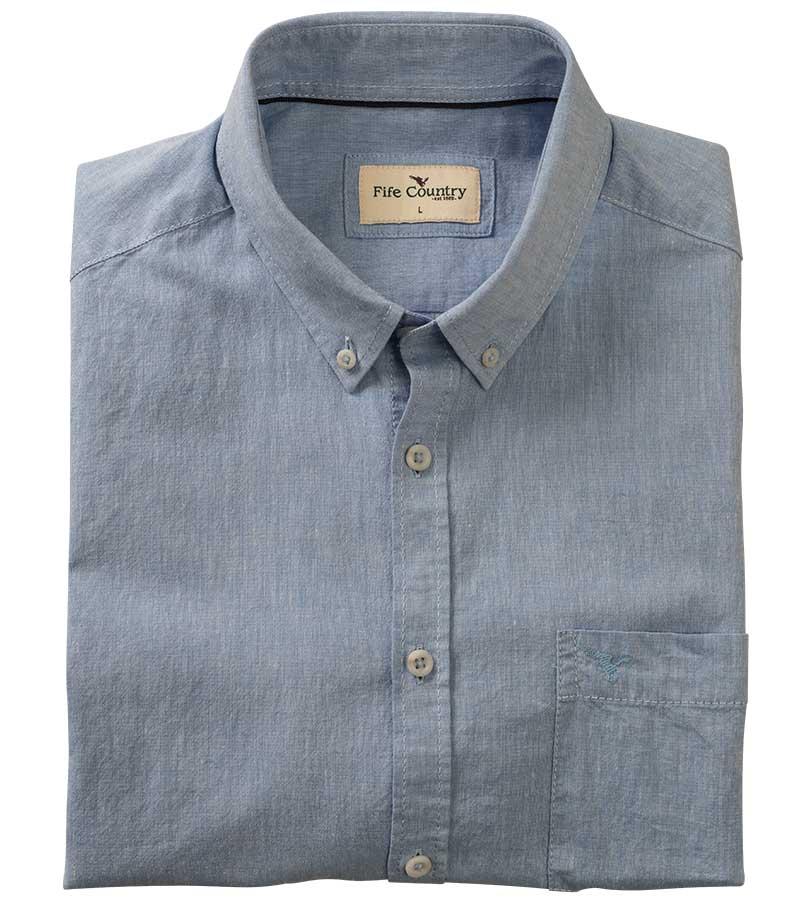 Ayr Cotton/Linen Short Sleeved Shirt
