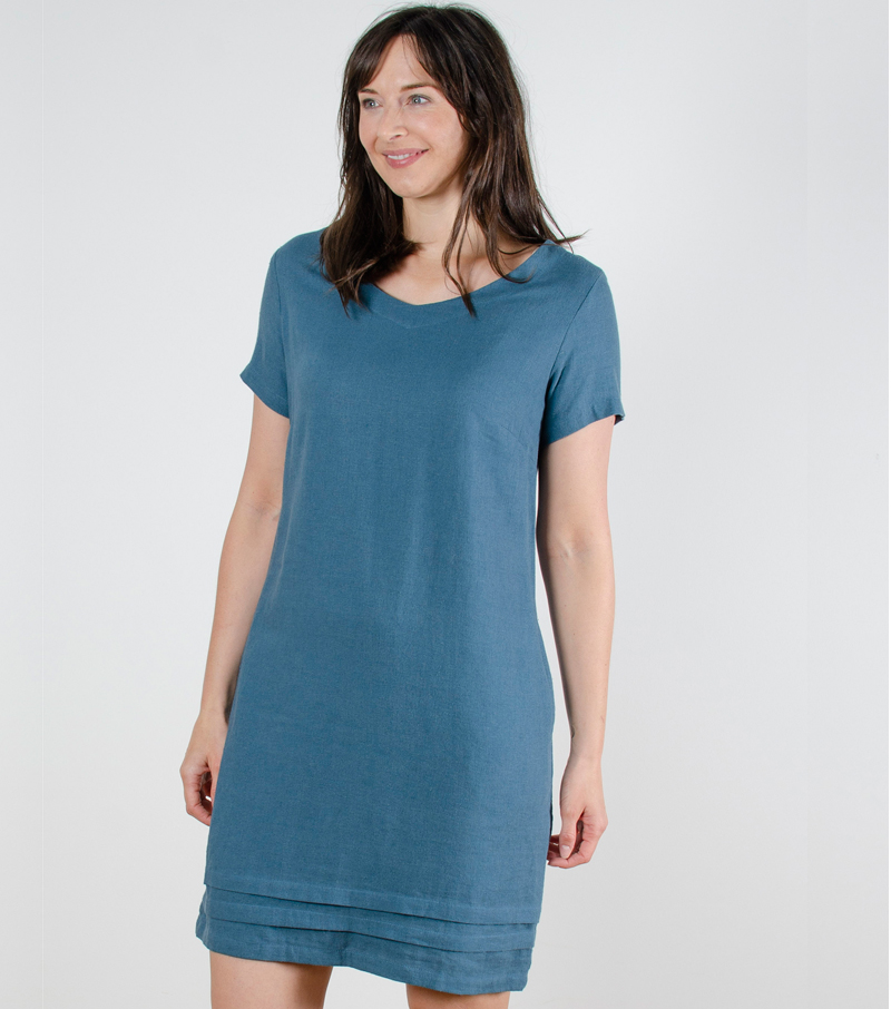 e3e8cff96a8851 Linen Mix Shift Dress by Lily & Me | Skirts and Dresses from Fife Country