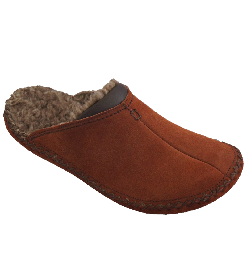 Ladies Suede Mule Slipper