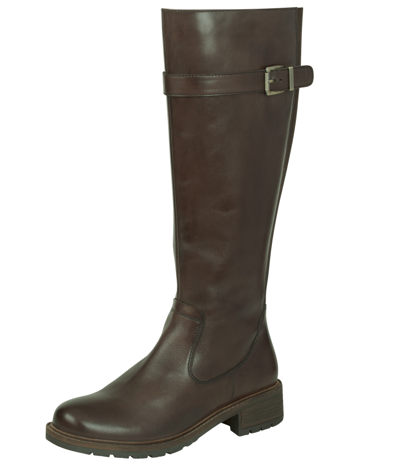 Knee High Side Buckle Boot
