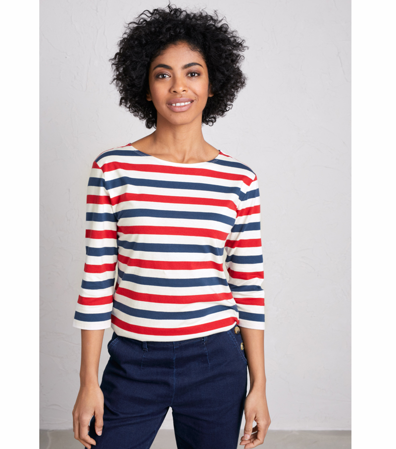 Sailor 3/4 Sleeve Top